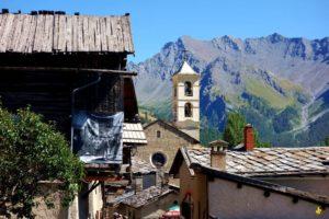Le village de Saint Véran l'été